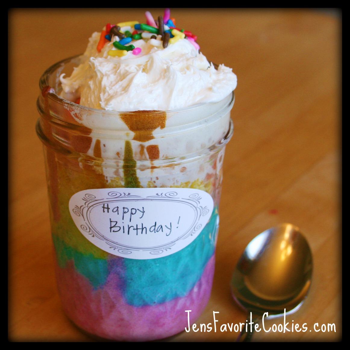 Rainbow Cake in a Jar   Jen's Favorite Cookies