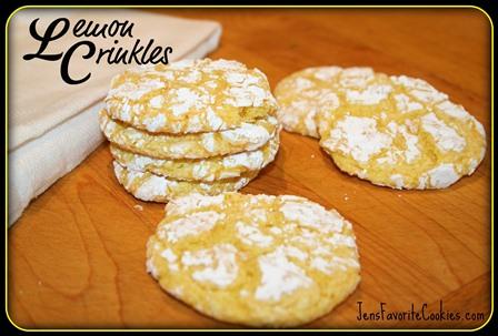 Lemon Crinkle Cookies from Jen's Favorite Cookies
