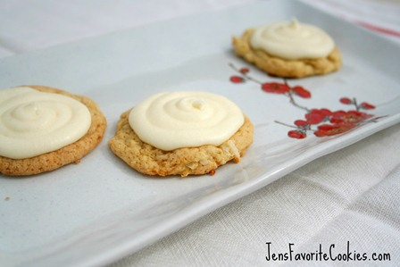 Coconut Cream Cookies from JensFavoriteCookies.com