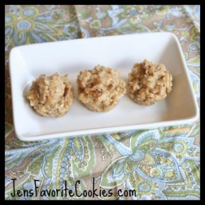 No bake nut cookie