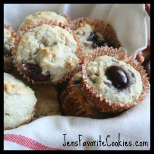 Oat Muffins with Cherries