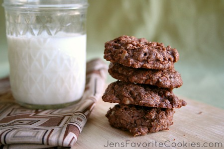 cinnamon chips in chocolate oat cookie
