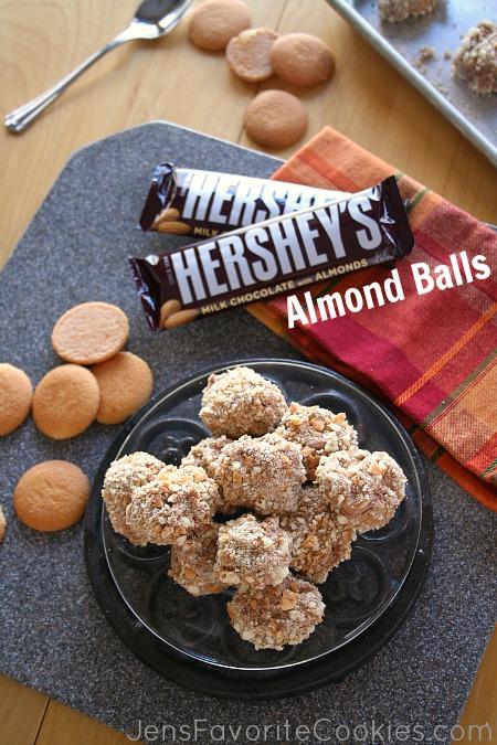 chocolate cream pie almond balls