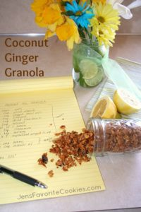 coconut ginger granola recipe