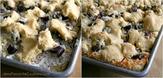 Coconut Chocolate Chip Cookies (bars)
